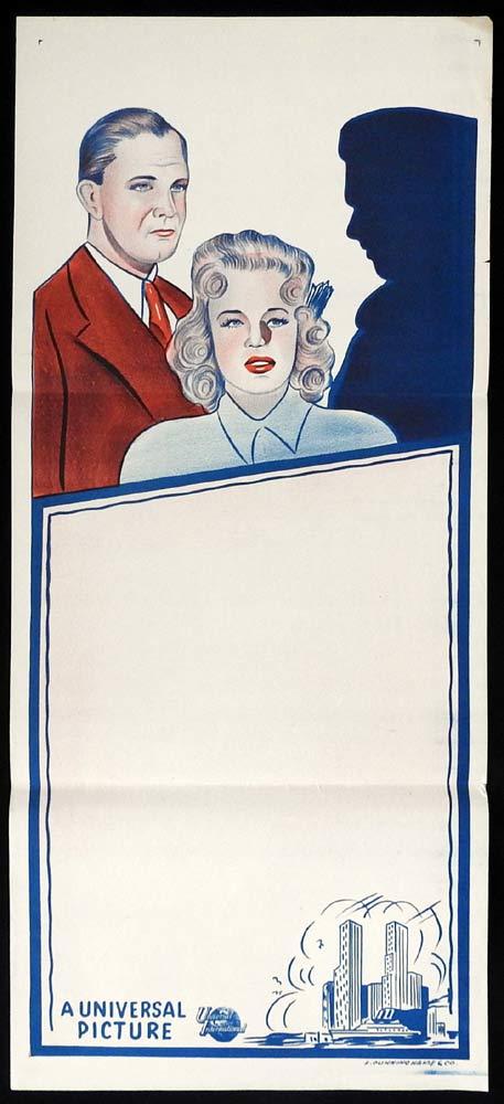 UNIVERSAL PICTURES STOCK Original 1950s Daybill Movie Poster Film Noir