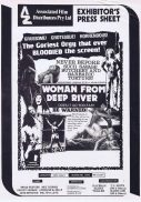 WOMAN FROM DEEP RIVER Rare AUSTRALIAN Movie Press Sheet Horror Cannibal Ferox