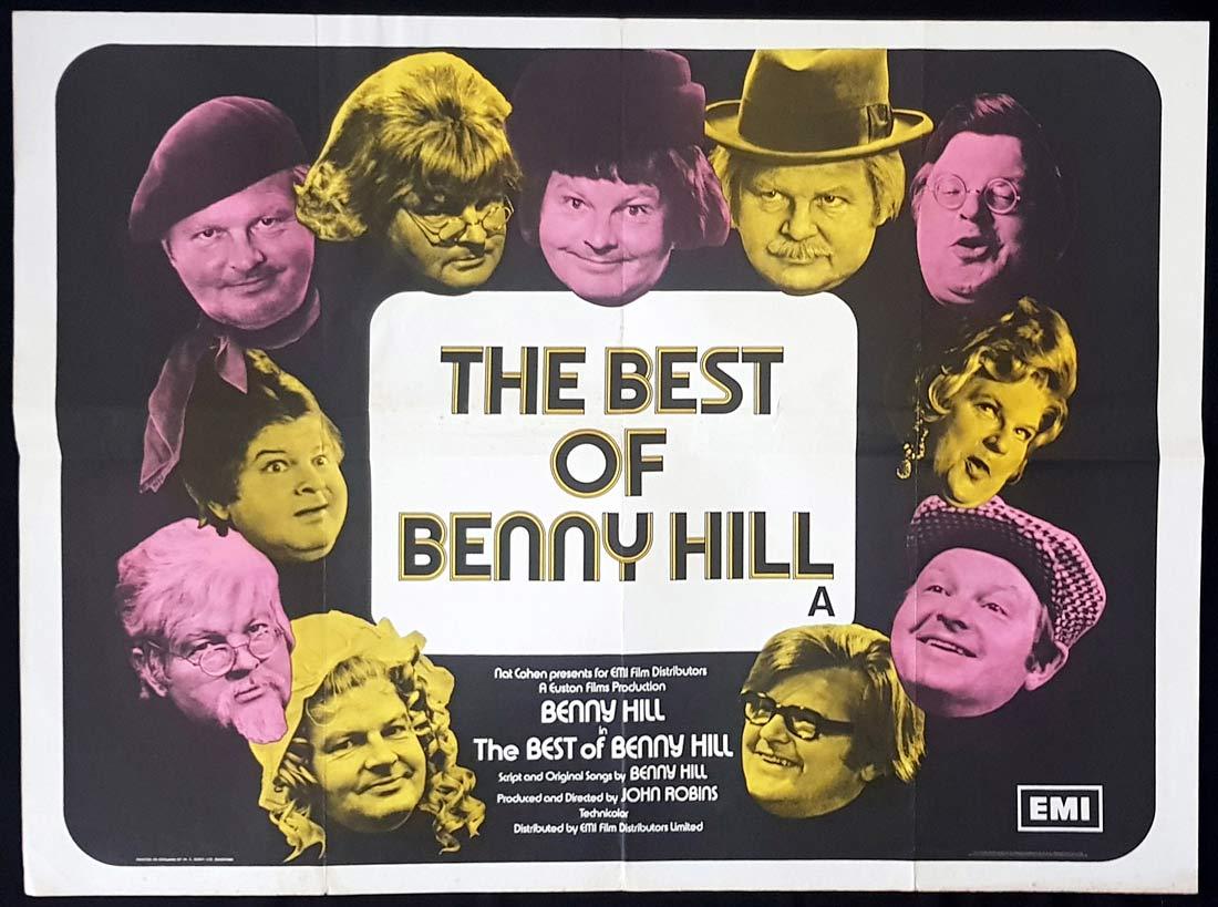 THE BEST OF BENNY HILL Original British Quad Movie Poster