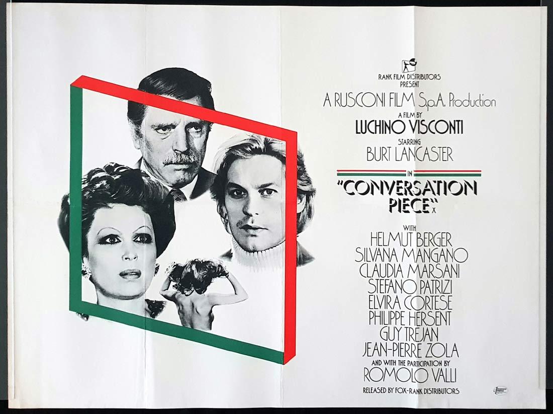 CONVERSATION PIECE Original British Quad Movie Poster Burt Lancaster