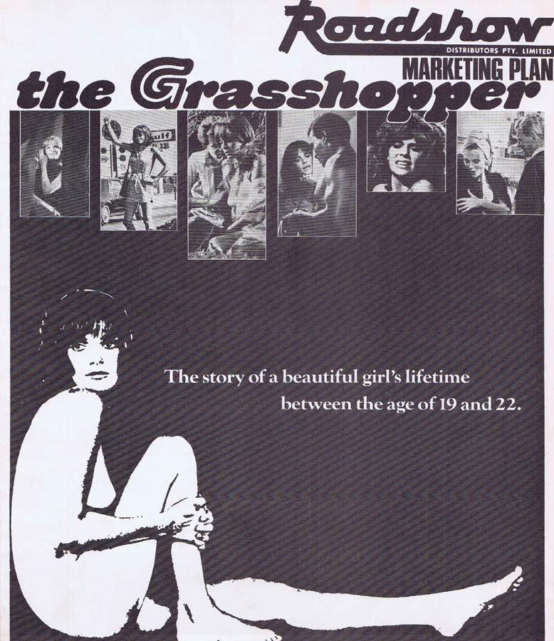 THE GRASSHOPPER Rare AUSTRALIAN Movie Press Sheet Jacqueline Bisset