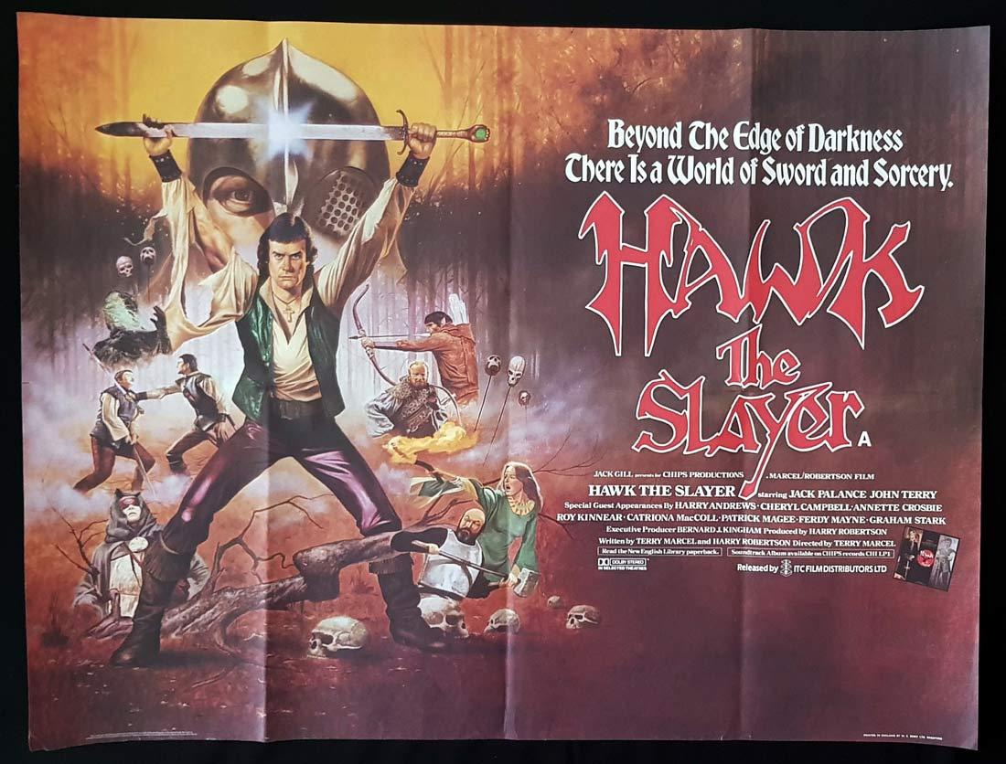 HAWK THE SLAYER Original British Quad Movie Poster Jack Palance John Terry