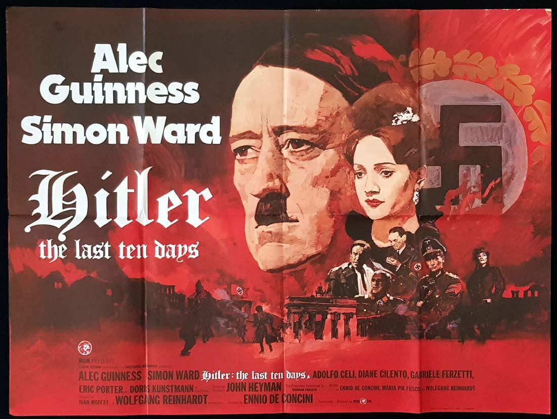 HITLER THE LAST TEN DAYS Original British Quad Movie Poster Alec Guinness