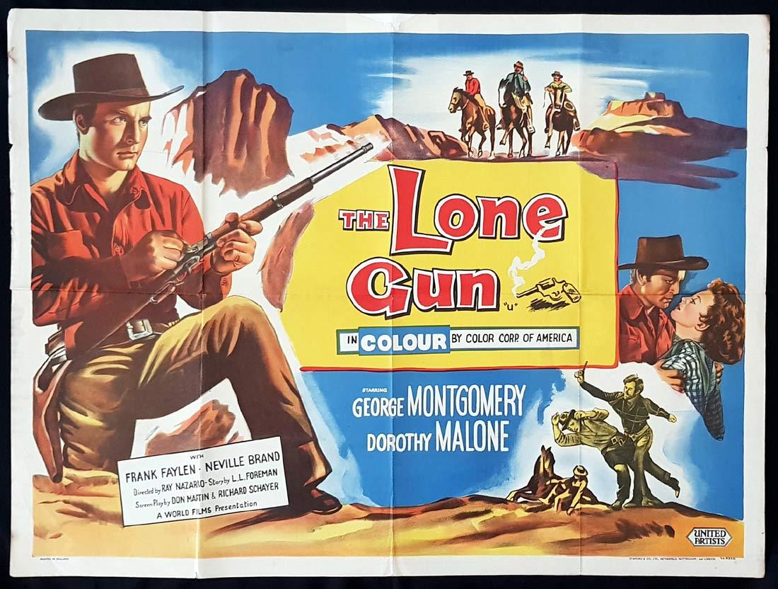 THE LONE GUN Original British Quad Movie Poster George Montgomery Dorothy Malone