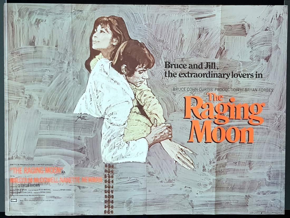 THE RAGING MOON Original British Quad Movie Poster Malcolm McDowell