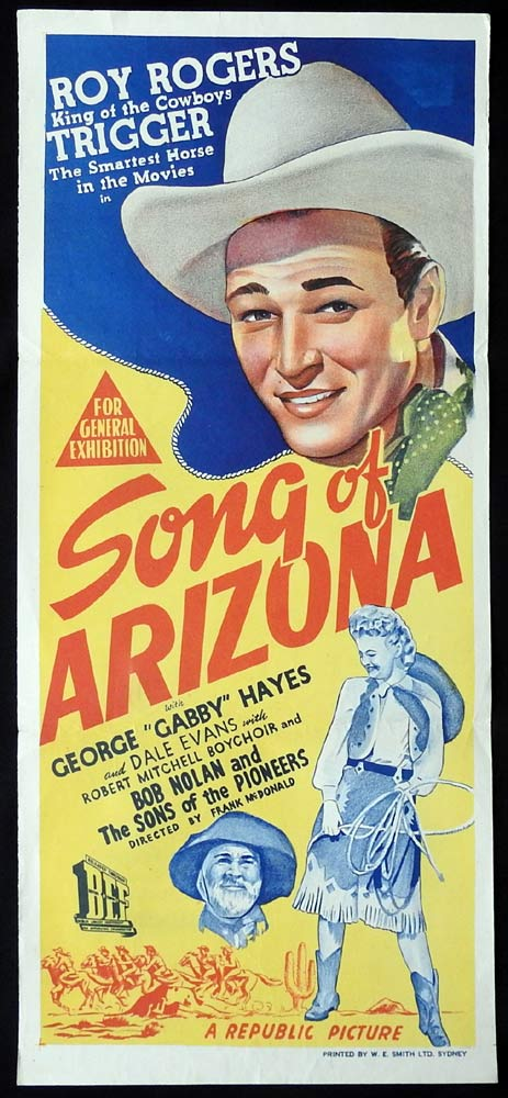 SONG OF ARIZONA Original Daybill Movie Poster Roy Rogers