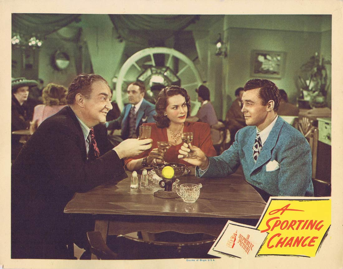A SPORTING CHANCE Lobby Card 3 Jane Randolph John O'Malley 1945