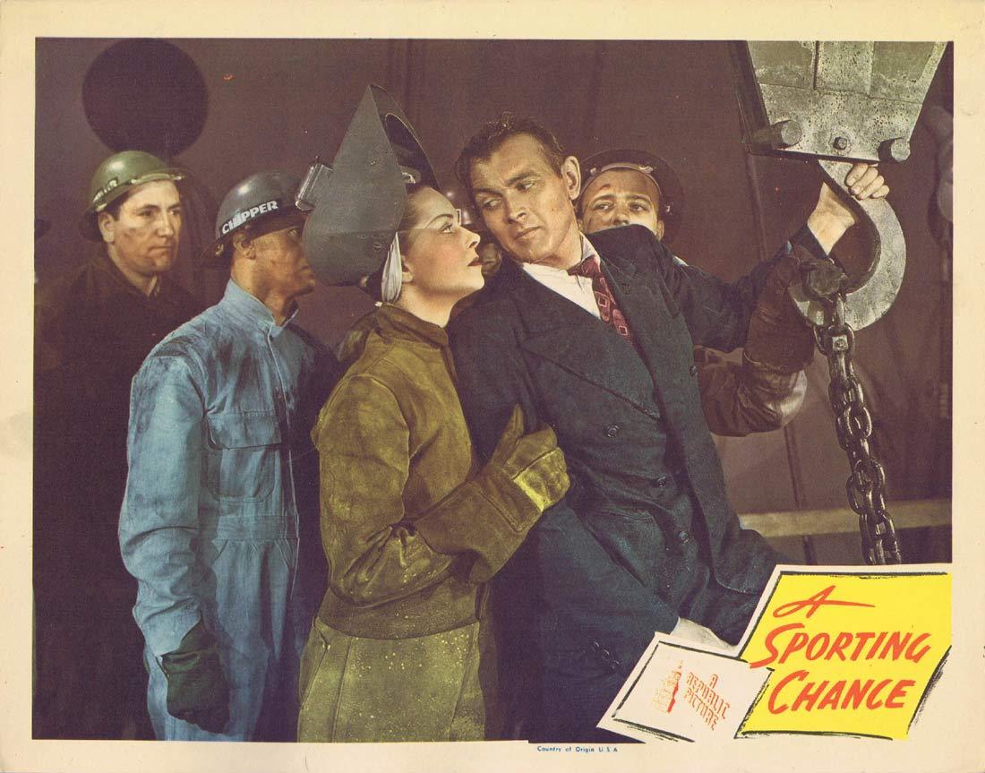 A SPORTING CHANCE Lobby Card 6 Jane Randolph John O'Malley 1945
