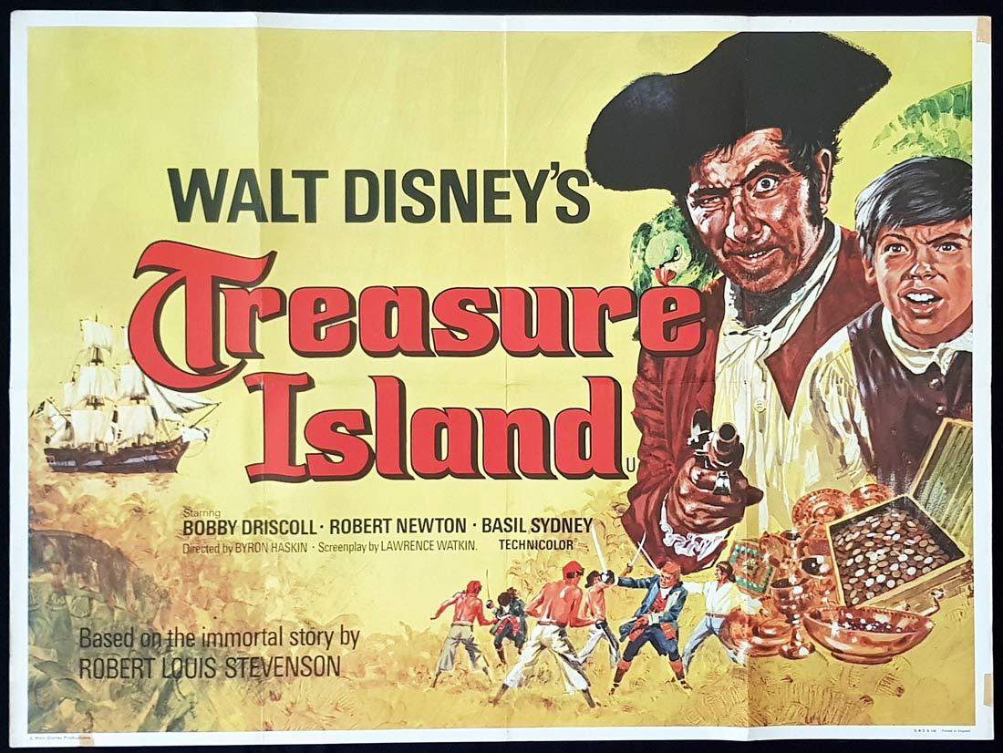 TREASURE ISLAND Original British Quad Movie Poster Robert Newton