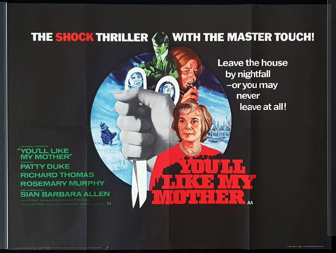 YOU'LL LIKE MY MOTHER Original British Quad Movie Poster Patty Duke Rosemary Murphy