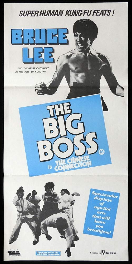THE BIG BOSS Original Daybill Movie poster BRUCE LEE Kung Fu Martial arts