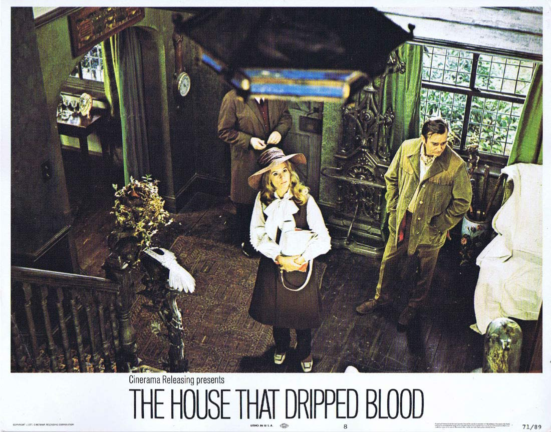 THE HOUSE THAT DRIPPED BLOOD Original Lobby card 8 Christopher Lee Peter Cushing
