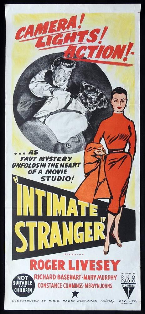 INTIMATE STRANGER Original Daybill Movie poster Roger Livesey Richard Basehart