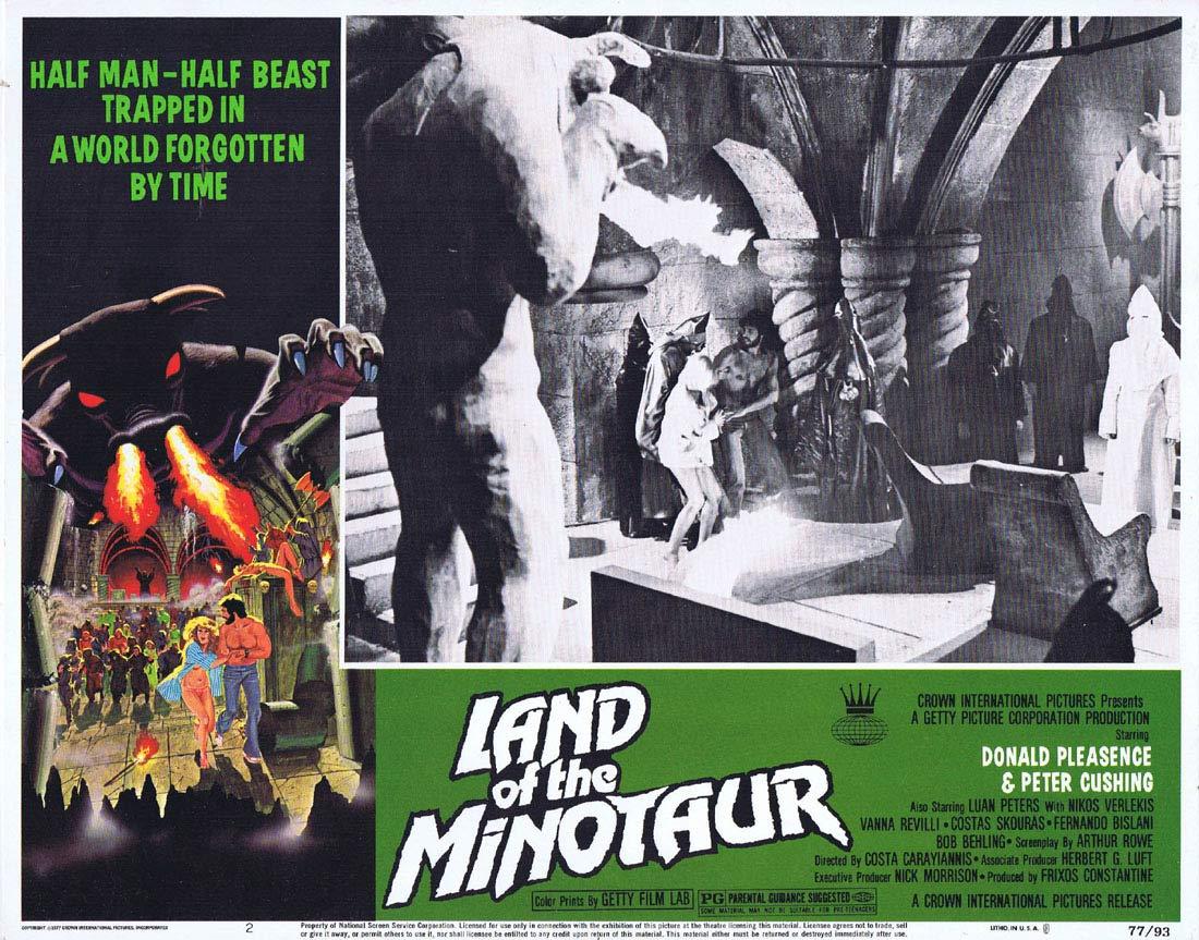 LAND OF THE MINOTAUR Original Lobby card 2 Land of the Minotaur Donald Pleasence Peter Cushing
