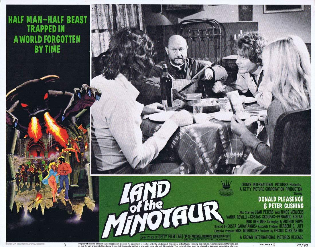 LAND OF THE MINOTAUR Original Lobby card 5 Donald Pleasence Peter Cushing