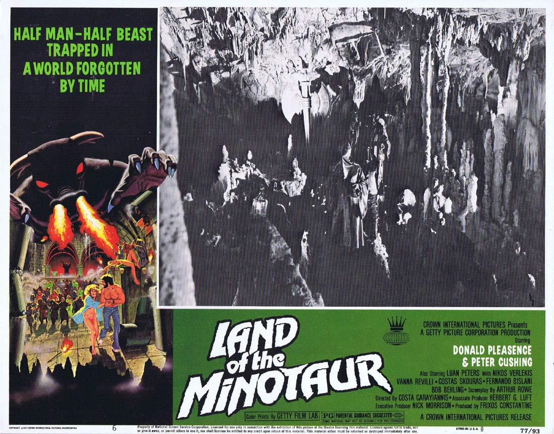 LAND OF THE MINOTAUR Original Lobby card 6 Donald Pleasence Peter Cushing