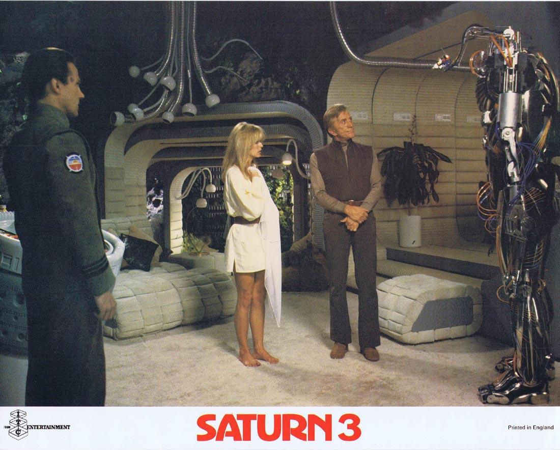 SATURN 3 Original Lobby card 3 Farrah Fawcett Kirk Douglas Harvey Keitel