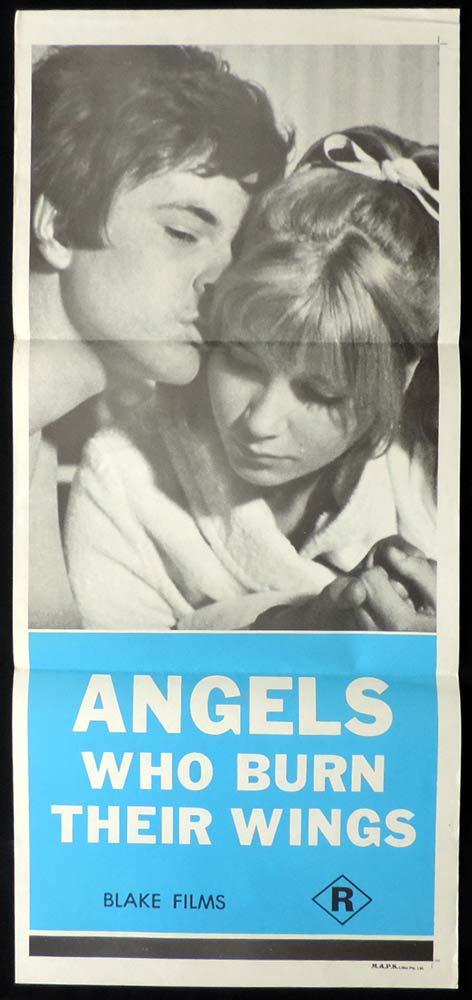 ANGELS WHO BURN THEIR WINGS Original Daybill Movie Poster Zbynek Brynych Sexploitation