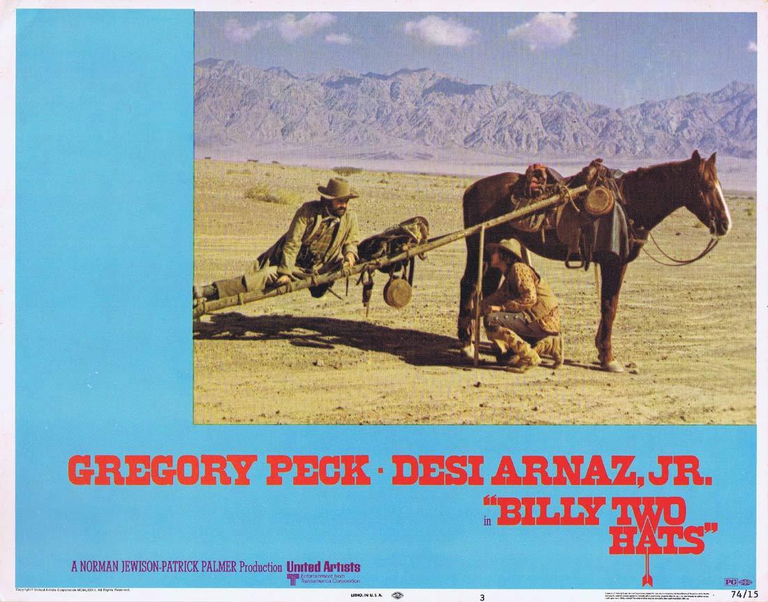 BILLY TWO HATS Original Lobby card 3 Gregory Peck Desi Arnaz Jr