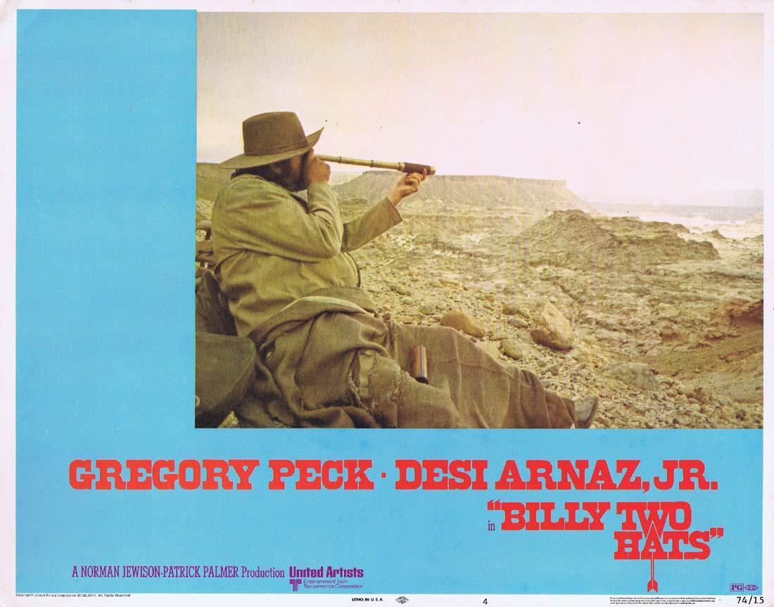 BILLY TWO HATS Original Lobby card 4 Gregory Peck Desi Arnaz Jr