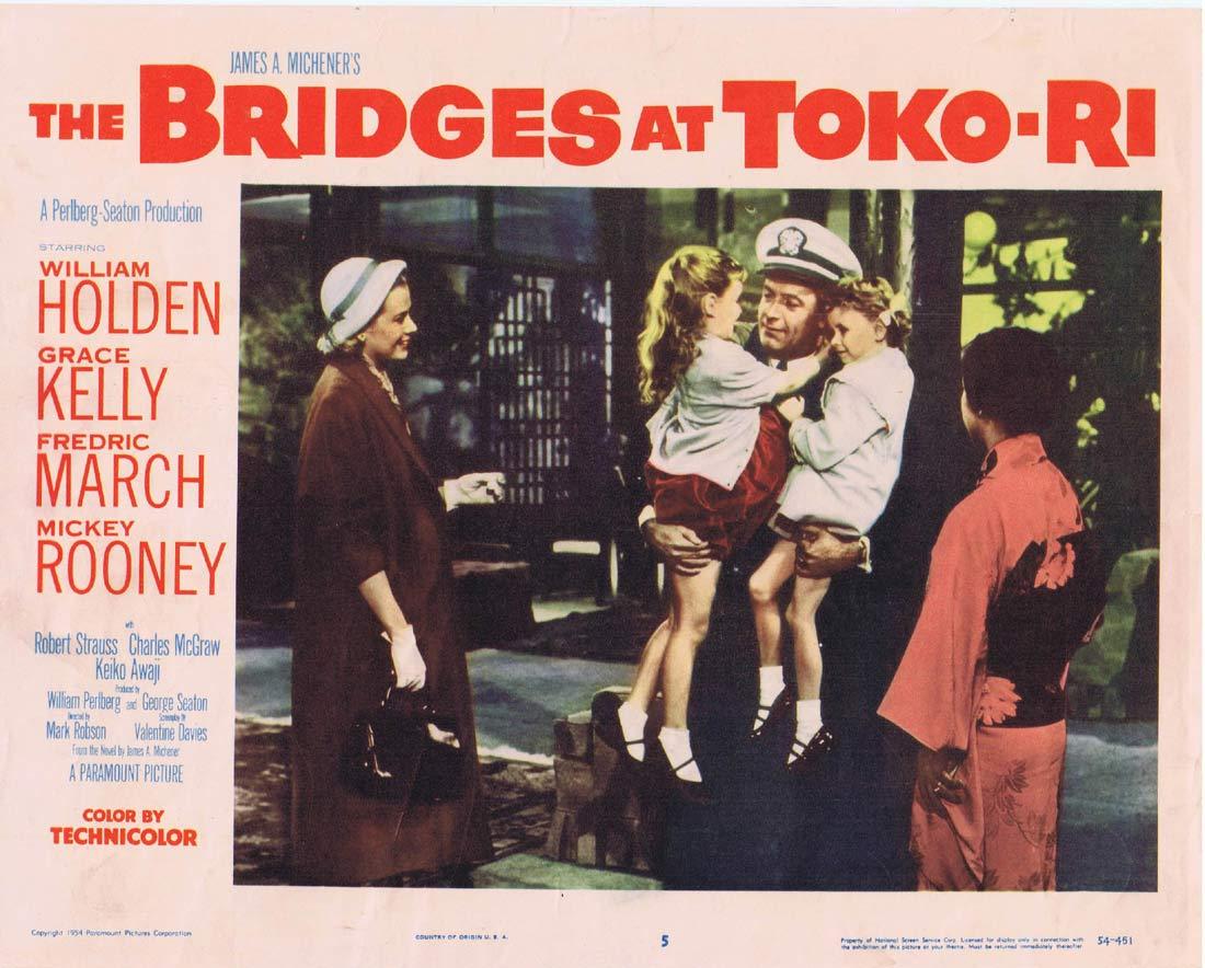 THE BRIDGES AT TOKO RI Original Lobby card 5 William Holden Mickey Rooney