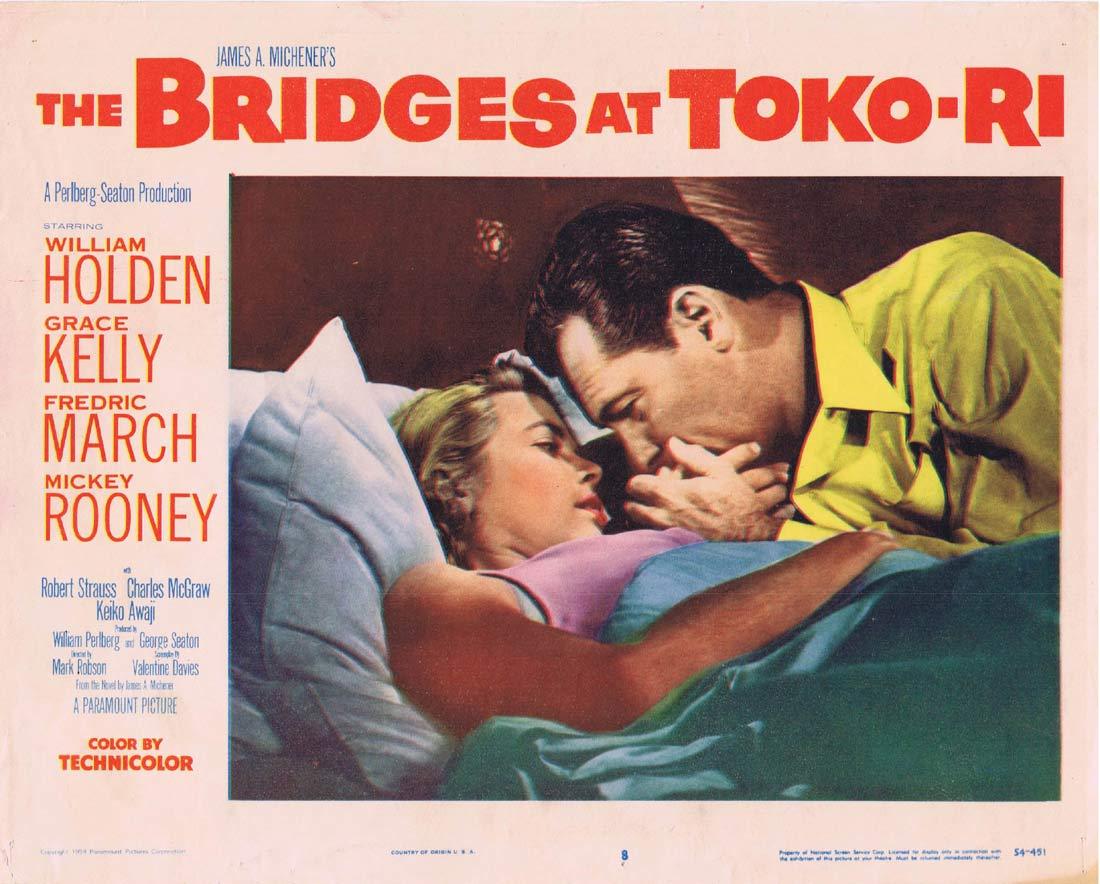THE BRIDGES AT TOKO RI Original Lobby card 8 William Holden Mickey Rooney
