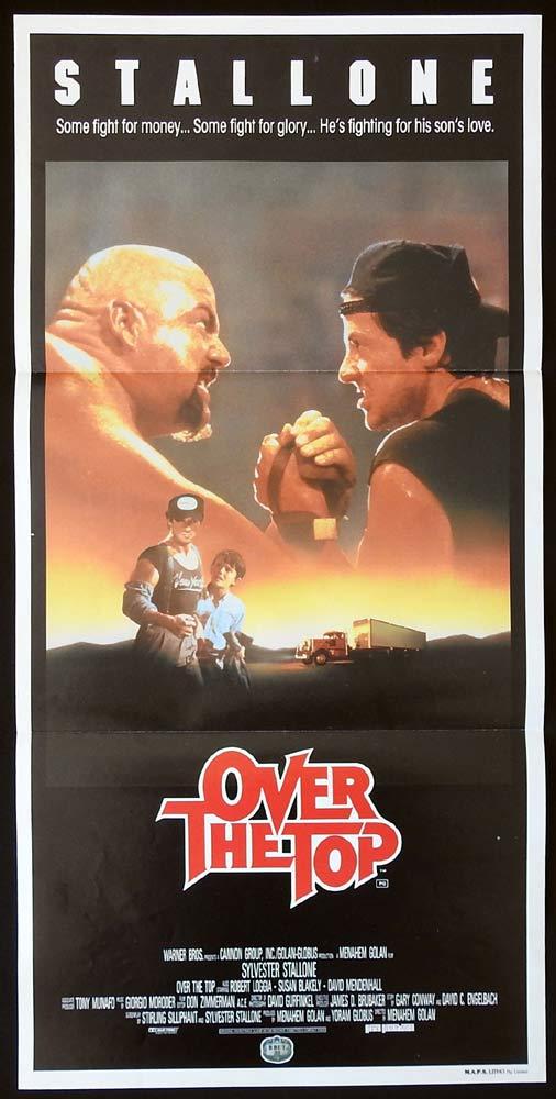 OVER THE TOP Original Daybill Movie Poster Sylvester Stallone