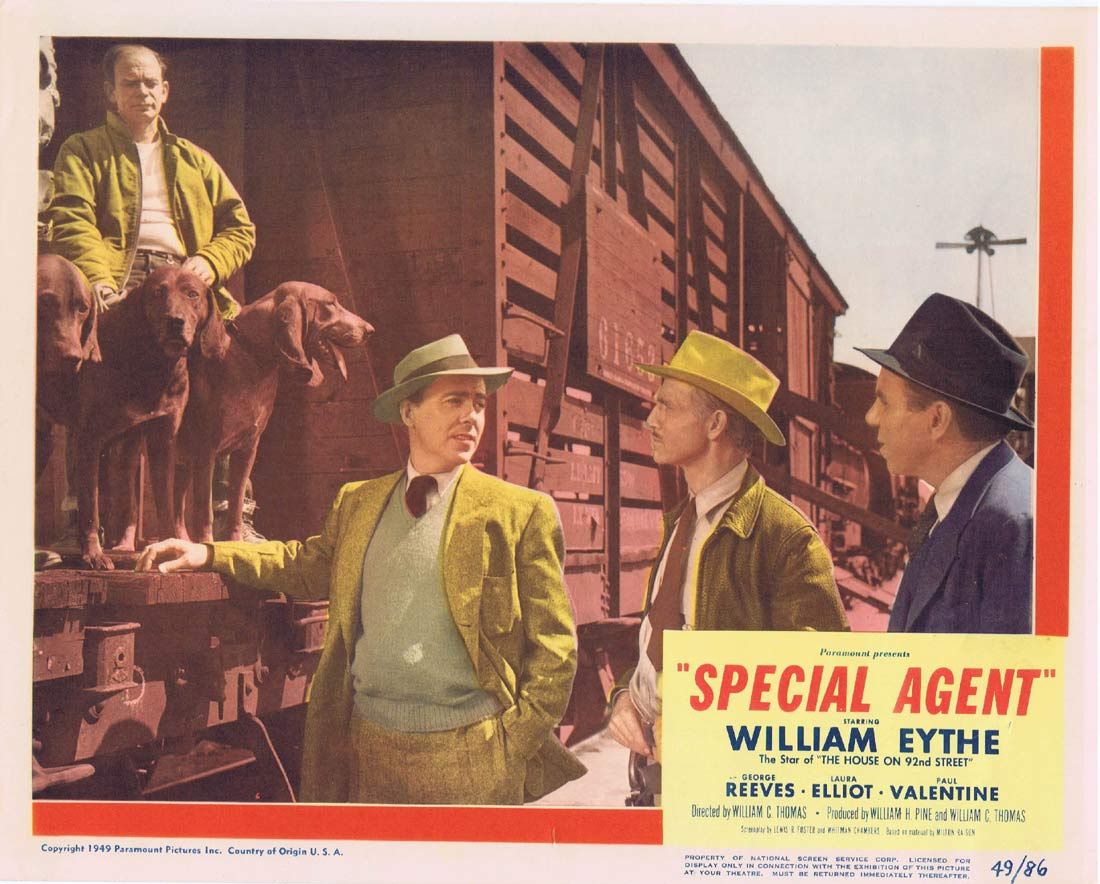 SPECIAL AGENT Original Lobby Card 5 William Eythe George Reeves Film Noir
