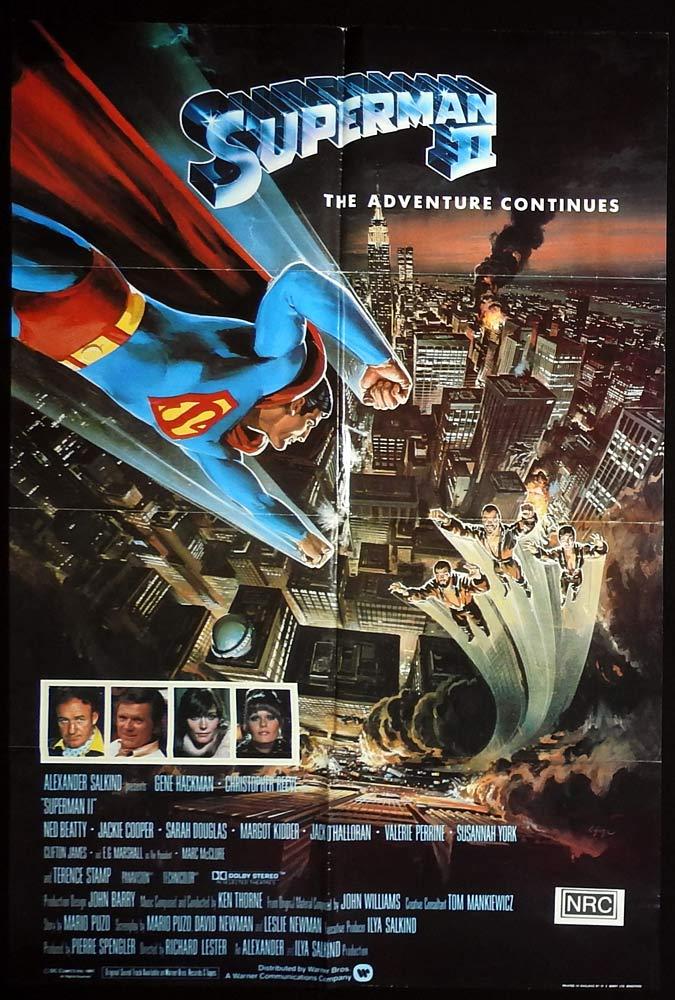 SUPERMAN II Original British One Sheet Movie poster Gene Hackman Christopher Reeve
