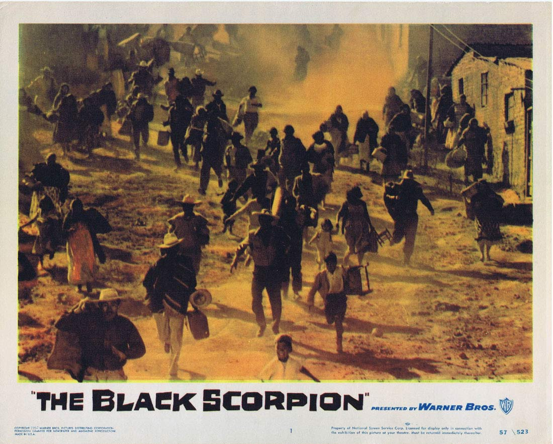 THE BLACK SCORPION Original Lobby Card 1 Richard Denning 1957 Sci Fi