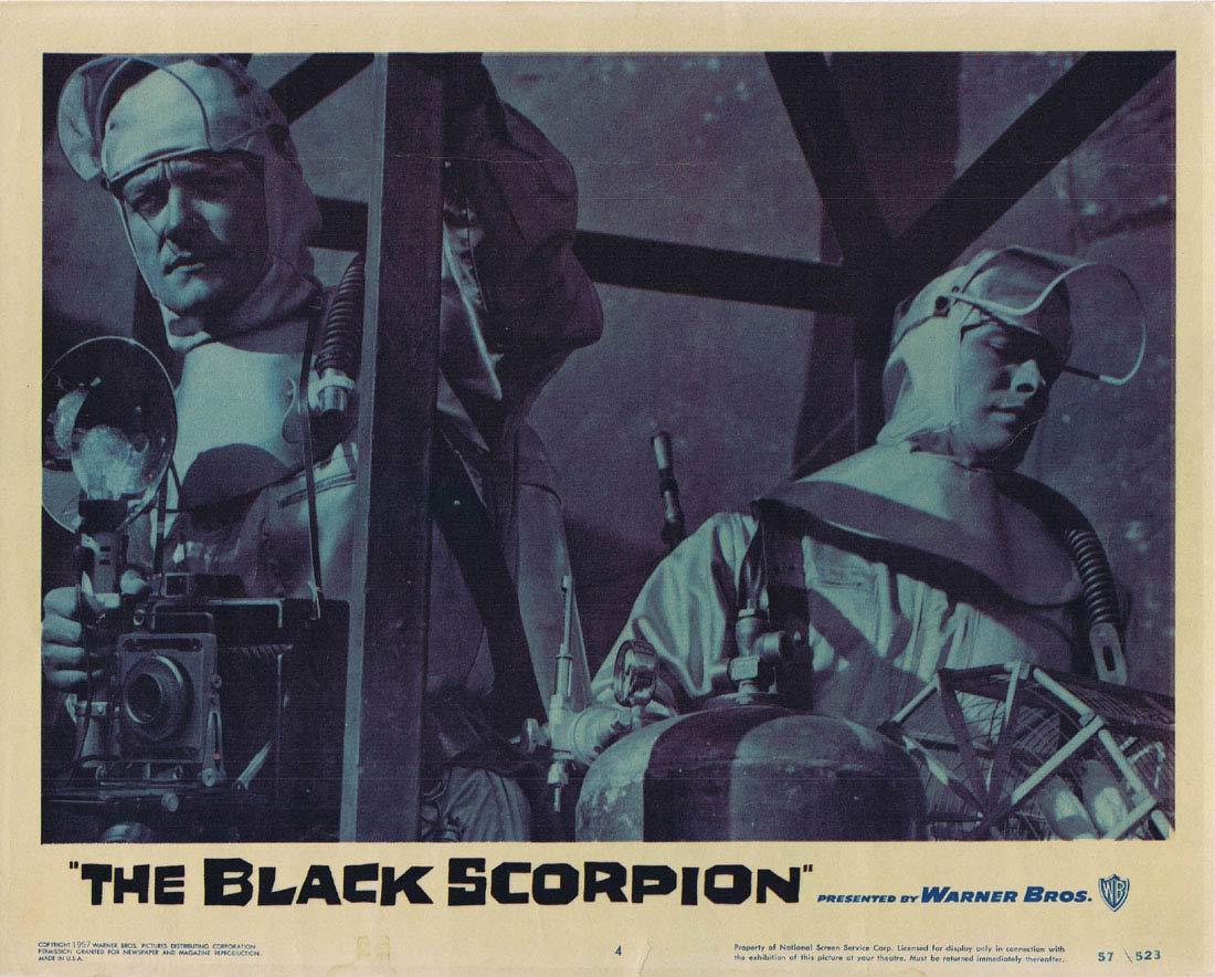 THE BLACK SCORPION Original Lobby Card 4 Richard Denning 1957 Sci Fi