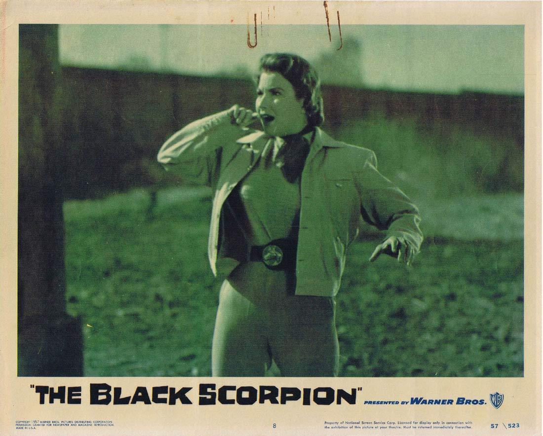 THE BLACK SCORPION Original Lobby Card 8 Richard Denning 1957 Sci Fi