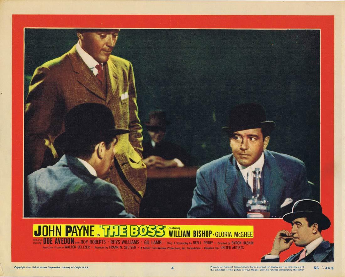 THE BOSS Original Lobby Card 4 John Payne Film Noir
