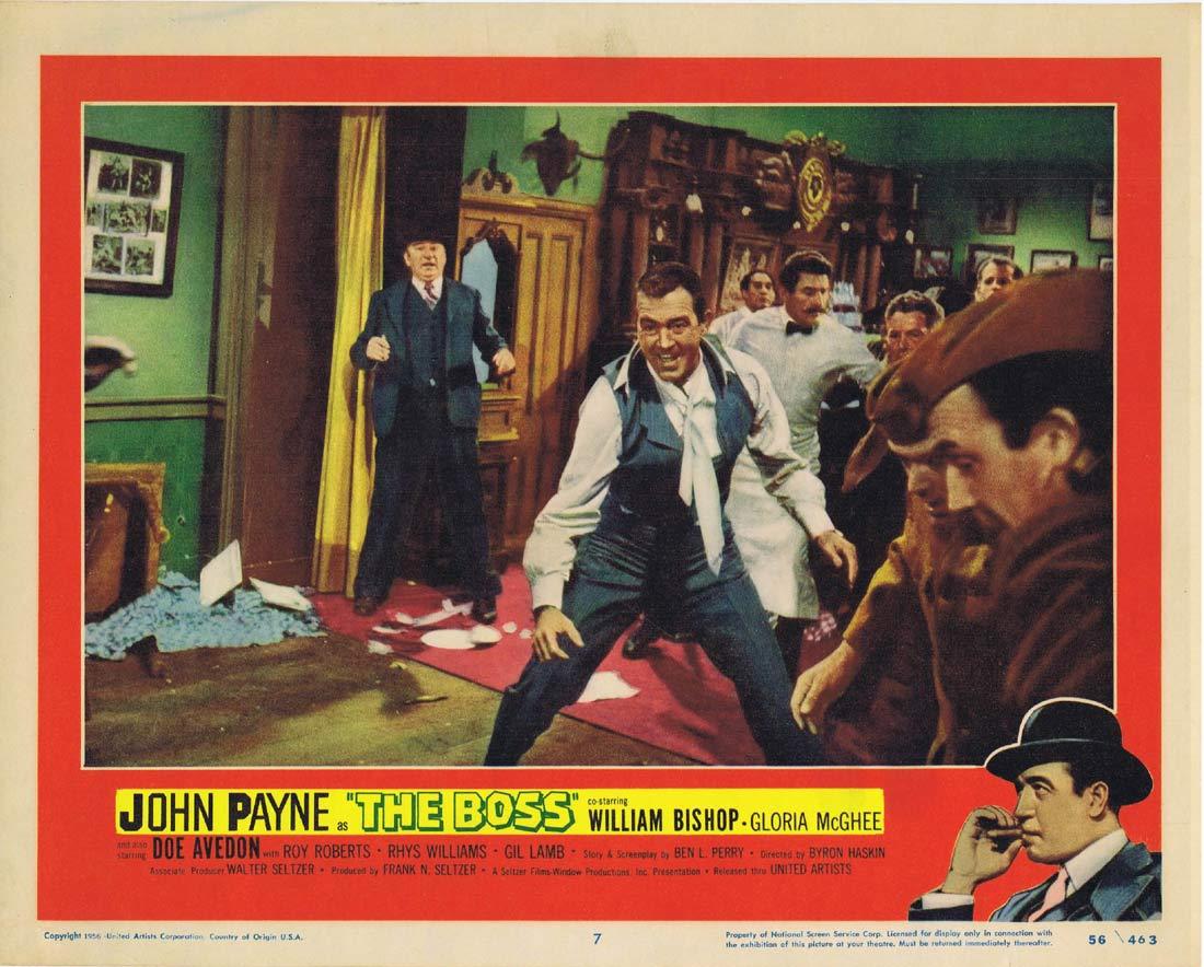 THE BOSS Original Lobby Card 7 John Payne Film Noir