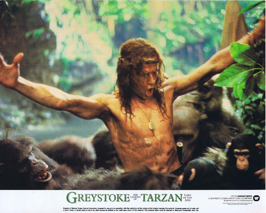 GREYSTOKE THE LEGEND OF TARZAN Original Lobby Card 3 Christopher Lambert