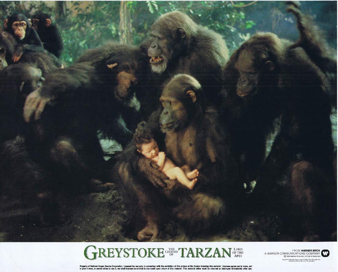 GREYSTOKE THE LEGEND OF TARZAN Original Lobby Card 5 Christopher Lambert