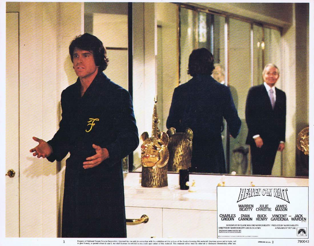 HEAVEN CAN WAIT Lobby Card 3 Warren Beatty Julie Christie