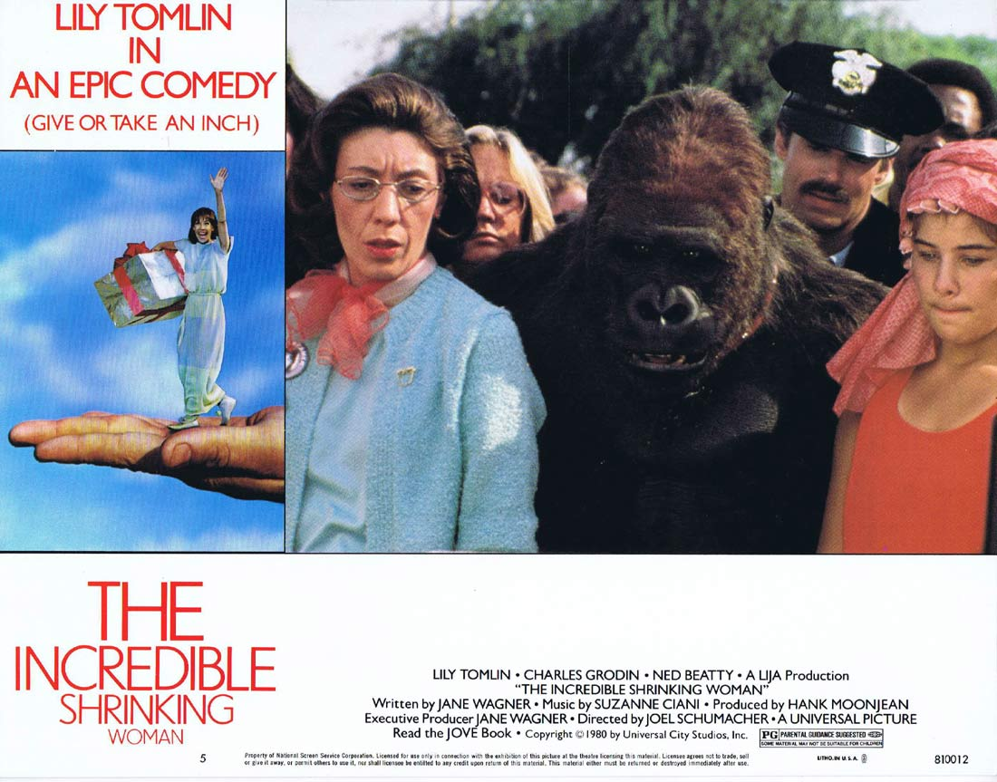THE INCREDIBLE SHRINKING WOMAN Original Lobby Card 5 Lily Tomlin Charles Grodin