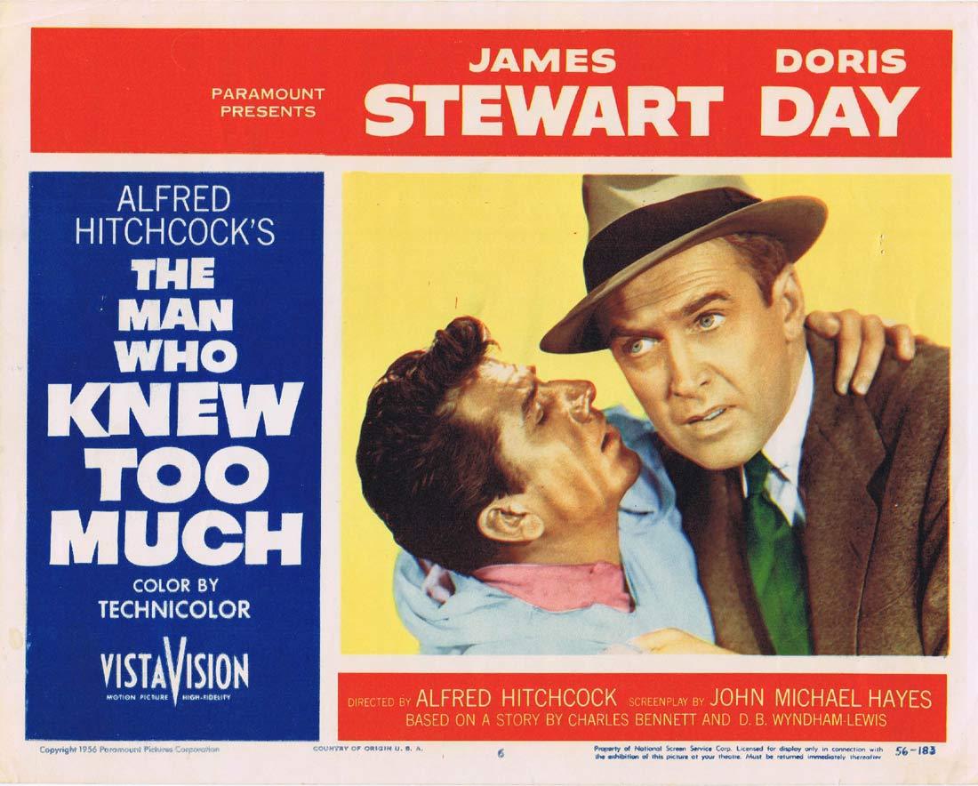 THE MAN WHO KNEW TOO MUCH Original Lobby Card 6 James Stewart Doris Day