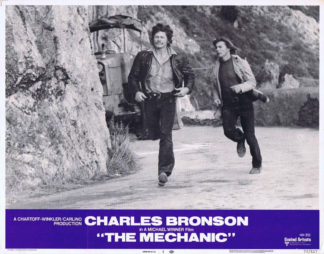THE MECHANIC Original Lobby card 1 Charles Bronson Jan-Michael Vincent