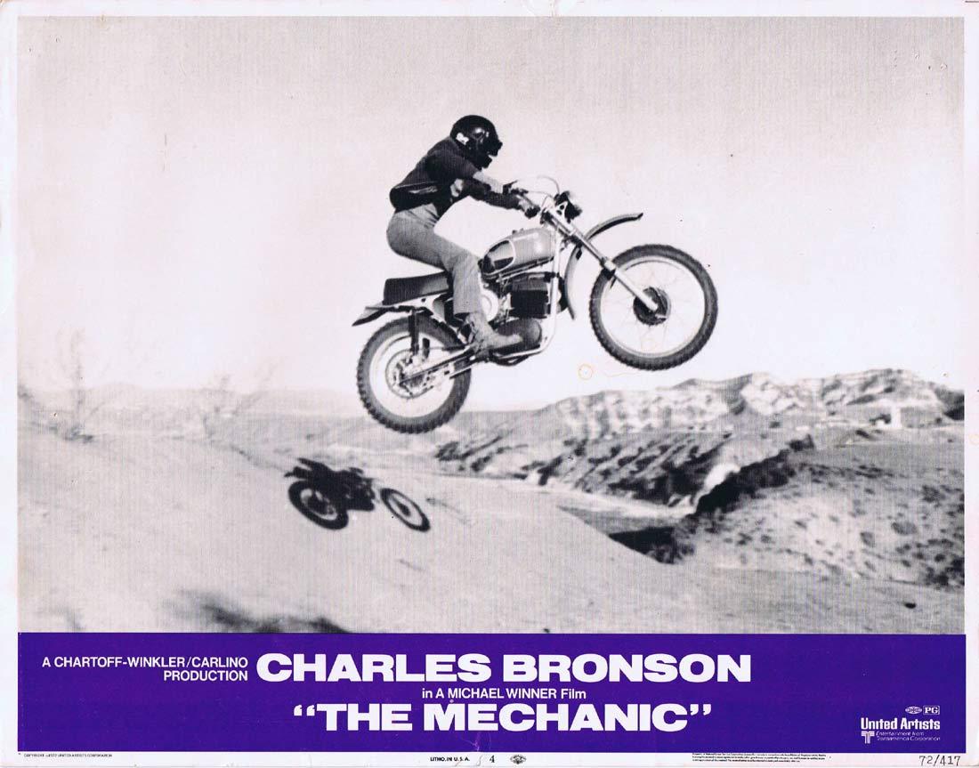 THE MECHANIC Original Lobby card 4 Charles Bronson Jan-Michael Vincent