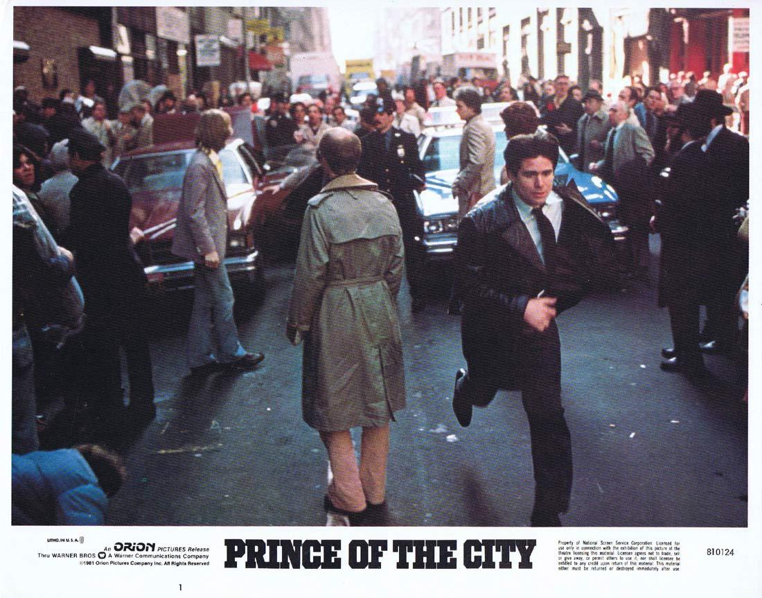 PRINCE OF THE CITY Original Lobby Card 1 Treat Williams Jerry Orbach