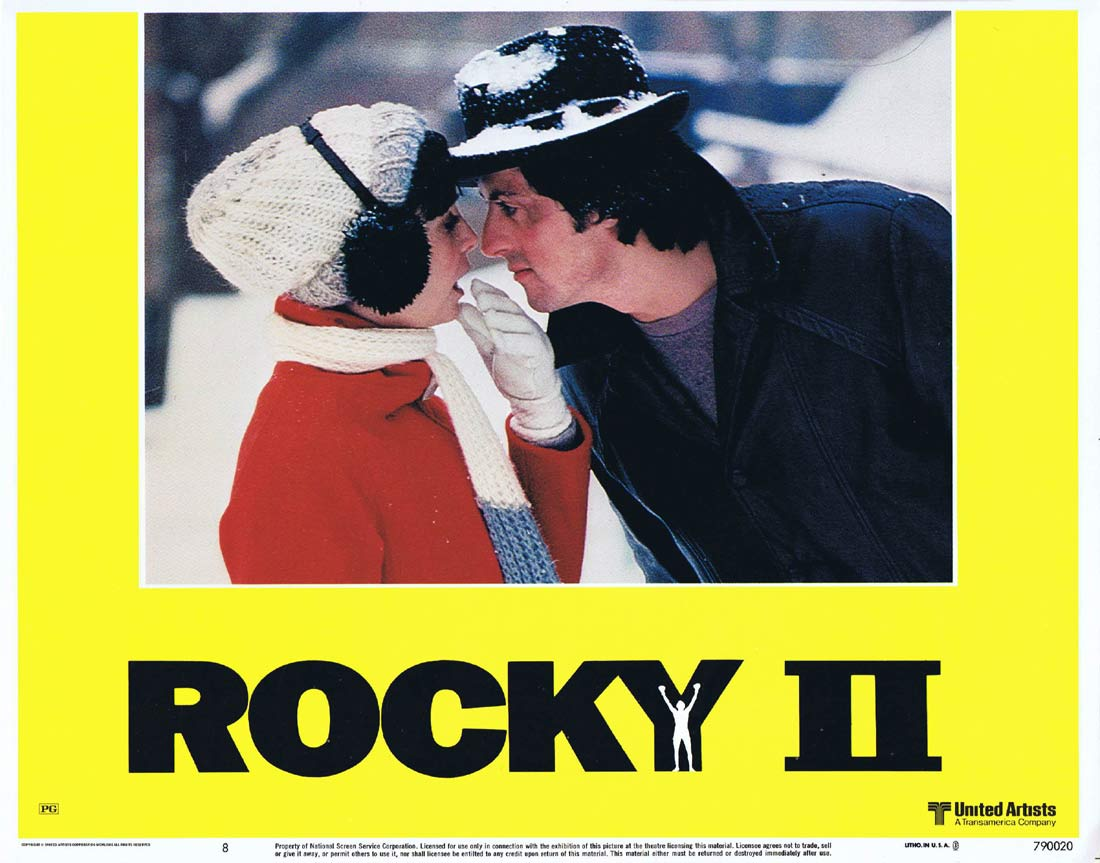 ROCKY II 1979 Sylvester Stallone BOXING Lobby card 8