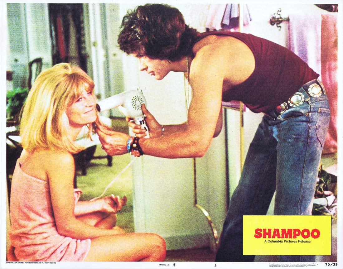SHAMPOO Lobby Card 1 Warren Beatty Goldie Hawn