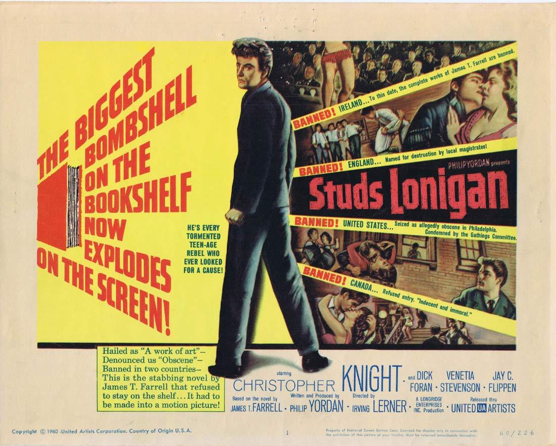 STUDS LONIGAN Original Title Lobby Card Film Noir Christopher Knight