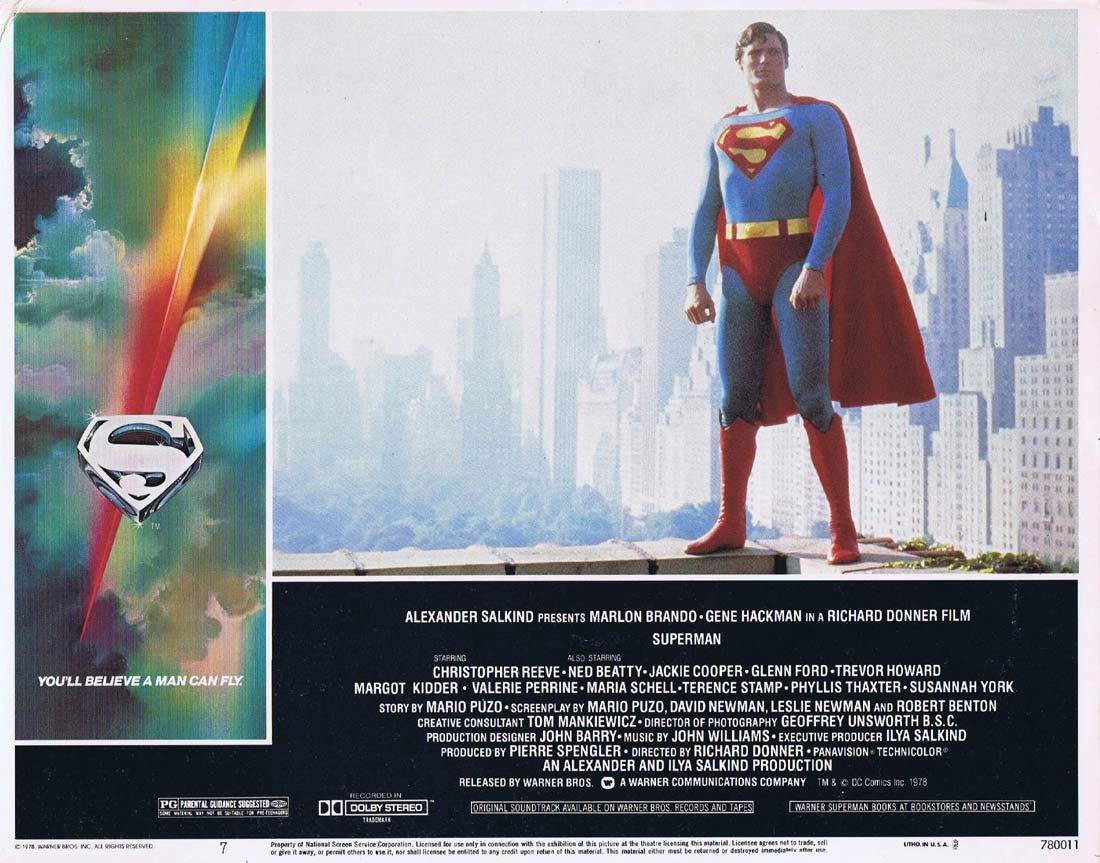 SUPERMAN THE MOVIE Original Lobby Card 7 Gene Hackman Christopher Reeve