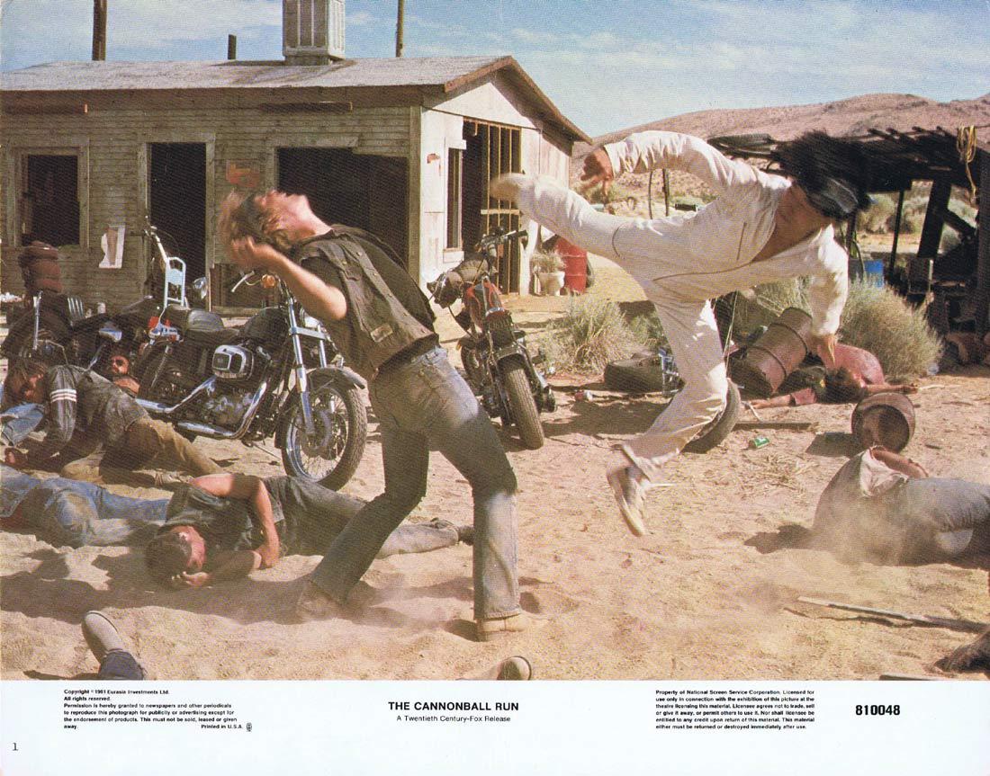 THE CANNONBALL RUN Original Lobby Card 1 Burt Reynolds Jackie Chan