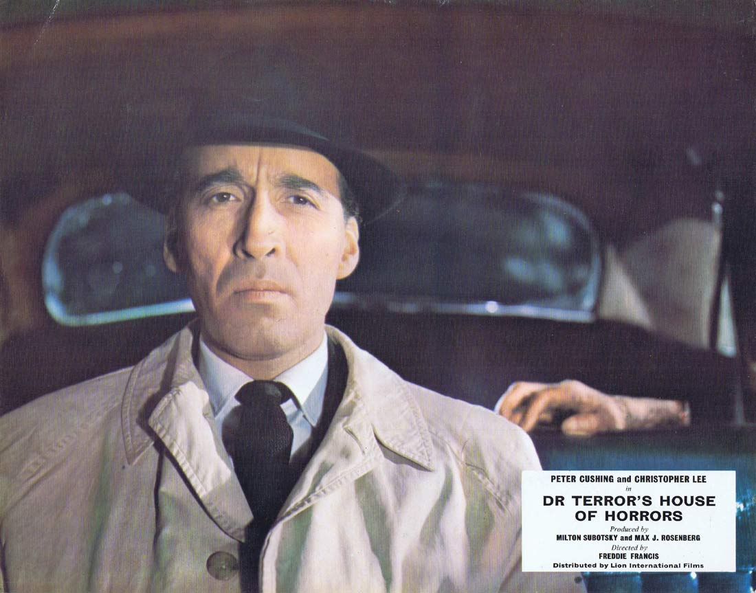 DR TERROR'S HOUSE OF HORRORS Original Lobby card 2 Peter Cushing Christopher Lee