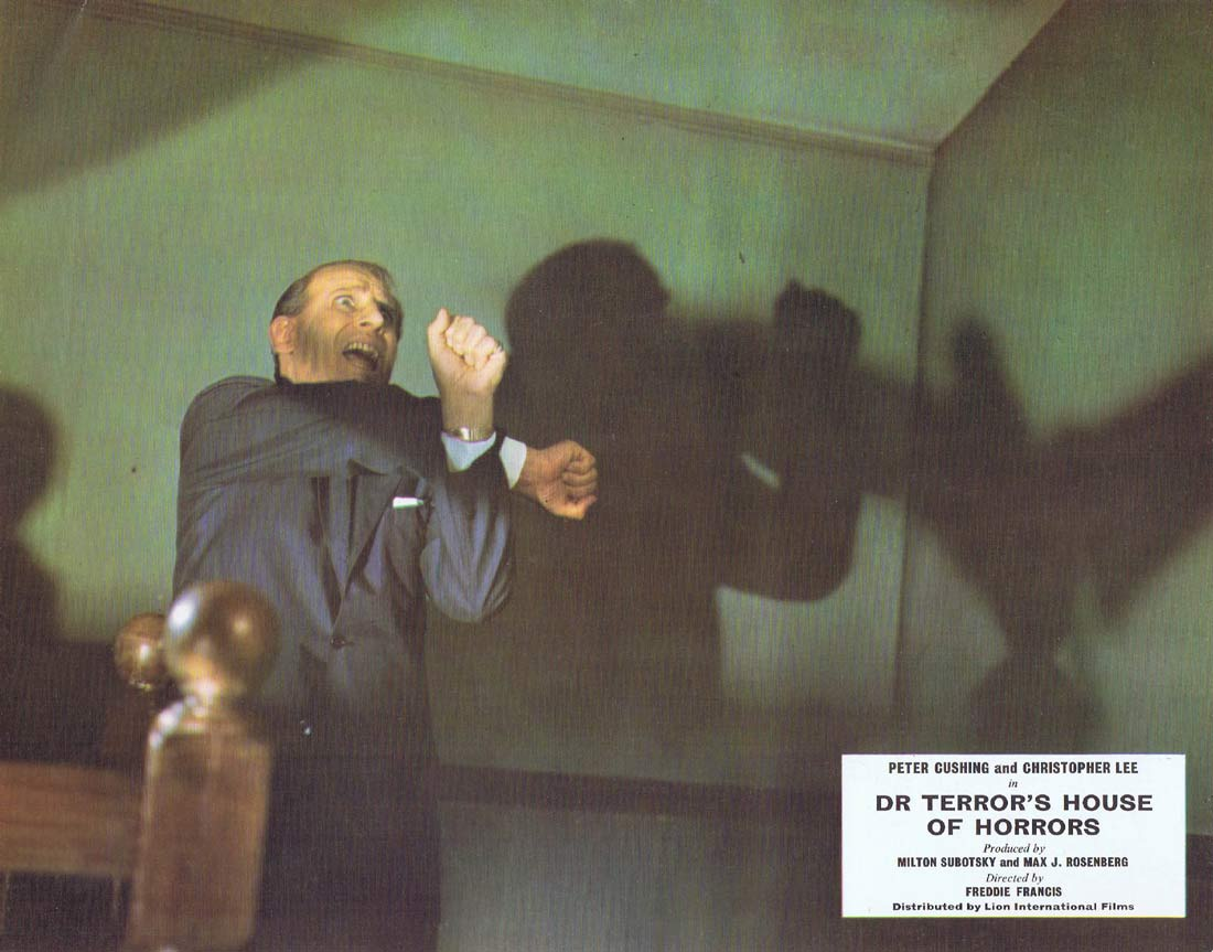 DR TERROR'S HOUSE OF HORRORS Original Lobby card 5 Peter Cushing Christopher Lee