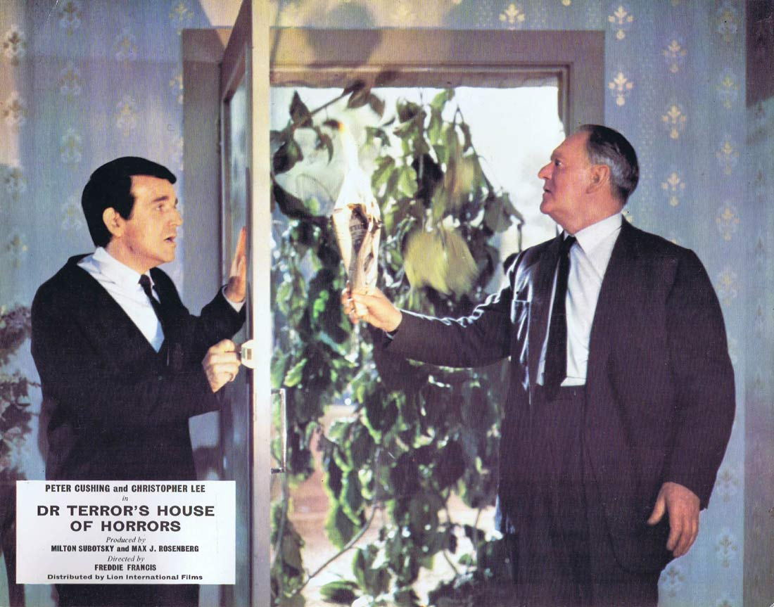 DR TERROR'S HOUSE OF HORRORS Original Lobby card 7 Peter Cushing Christopher Lee